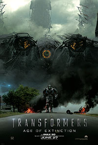 Transforrmers: Age of Extinction 3D poster